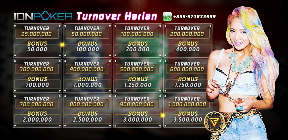 bonus turnover harian